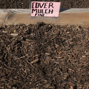 fine cover mulch