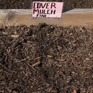fine cover mulch