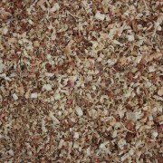 red wood shavings